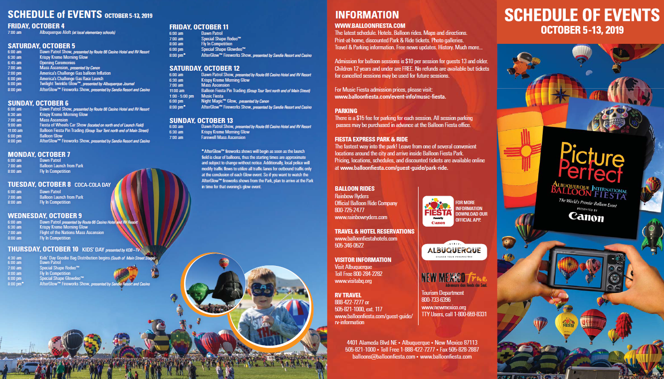 2019 Abq Balloon Fiesta Schedule